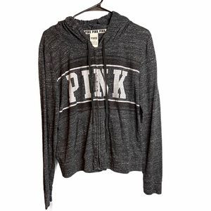 VS PINK Heather Gray Lightweight Jacket
